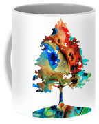 All Seasons Tree 3 - Colorful Landscape Print Coffee Mug