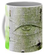 All-seeing Eye Of God On A Tree Bark Coffee Mug