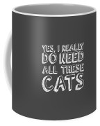 All These Cats Coffee Mug by Nancy Ingersoll