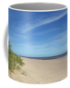 Almost Deserted Beach At Skegness Coffee Mug
