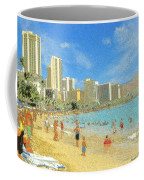 Aloha From Hawaii - Waikiki Beach Honolulu Coffee Mug