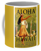 Aloha Hawaii, Hula Girl Dance Coffee Mug