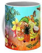 Aloha Tropical Fruits By Kaye Menner Coffee Mug