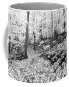 Along The Path Bw  Coffee Mug