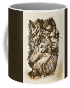 Alpha Male - The Wolf - Antiqued Coffee Mug