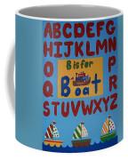 Alphabet Boat Coffee Mug