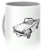 Alpine 5 Sports Car Illustration Coffee Mug