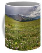 Alpine Meadow Before Mount Guyot Coffee Mug
