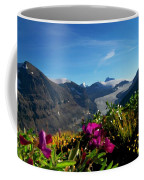Alpine Meadow Flowers Overlooking Glacier Coffee Mug