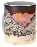Alpine Mountain Scene Coffee Mug