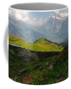 Alpine Roses In Foreground Coffee Mug
