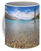Alpine Scenery From Dart River Bed In Kinloch, New Zealand Coffee Mug