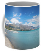 Alpine Scenery Panorama At Kinloch, New Zealand Coffee Mug