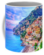 Amalfi Coast At Positano Coffee Mug