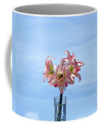 Amaryillis Belladonna Against The Spring Florida Sky Coffee Mug