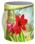 Amaryllis On  The Porch Coffee Mug