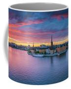 Dramatic Sunset Over Stockholm Coffee Mug