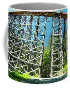 Amazing Kinsol Wooden Trestle Panorama View, Vancouver Island, Bc, Canada. Coffee Mug