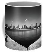 Amazing Panorama Reflection Of Dubai Jumeirah Beach, Dubai, United Arab Emirates Coffee Mug