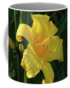 Amazing Yellow Lily Flowering In A Garden Coffee Mug
