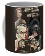 American Akita Art Canvas Print - Rear Window Movie Poster Coffee Mug