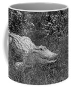 American Alligator 2 Bw Coffee Mug