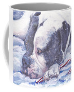 American Bulldog Christmas Coffee Mug