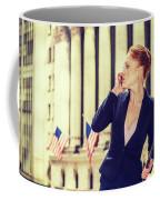 American Businesswoman Working In New York Coffee Mug