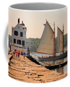 American Eagle At The Lighthouse Coffee Mug