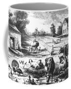American Farmyard, C1870 Coffee Mug by Granger