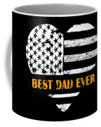 American Flag, Father's Day Gift, Best Dad Ever, For Daddy Coffee Mug