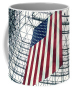 American Flag In Kennedy Library Atrium - 1982 Coffee Mug