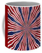American Flag Kaleidoscope Abstract 6 Coffee Mug