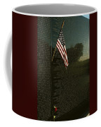 American Flag Left At The Vietnam Coffee Mug by Medford Taylor