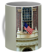 American Flag On An Old Building Coffee Mug