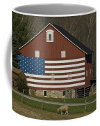 American Flag Painted On The Side Coffee Mug
