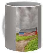 American Flag Proudly Displayed Coffee Mug