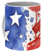American Flag Watercolor Painting Coffee Mug