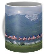 American Flags Honoring Veterans Coffee Mug by James P. Blair