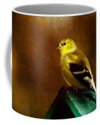 American Gold Finch In Texture Coffee Mug