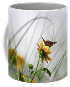 American Lady Butterfly Balancing By The Sea  Coffee Mug