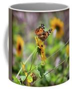 American Lady Butterfly By The Beach Coffee Mug
