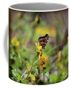 American Lady Butterfly Seaside Coffee Mug