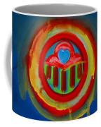 American Love Button Coffee Mug