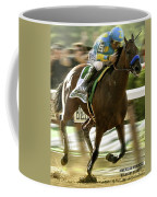 American Pharoah And Victory Espinoza Win The 2015 Belmont Stakes Coffee Mug
