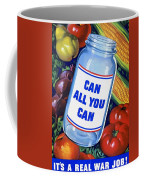 American Propaganda Poster Promoting Canned Food Coffee Mug