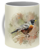 American Robin - Watercolor Art Coffee Mug