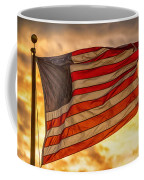 American Sunset On Fire Coffee Mug