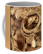 American West Legend Rodeo Western Lasso On Saddle Coffee Mug