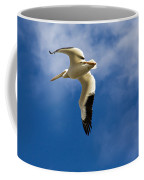 American White Pelican In Flight Coffee Mug